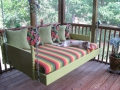 inspiration-bedroom-nice-soft-green-painting-swinging-bed-panels-also-colorful-stripped-mattress-and-chic-green-cushions-over-wooden-floors-and-wooden-fences-as-decorate-outdoor-furnishing-ideas-indo