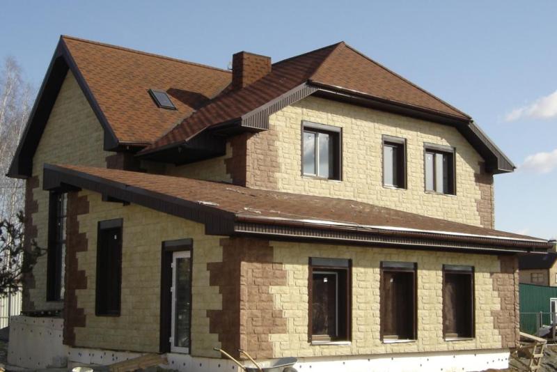 Варианты отделки фасада в частном доме