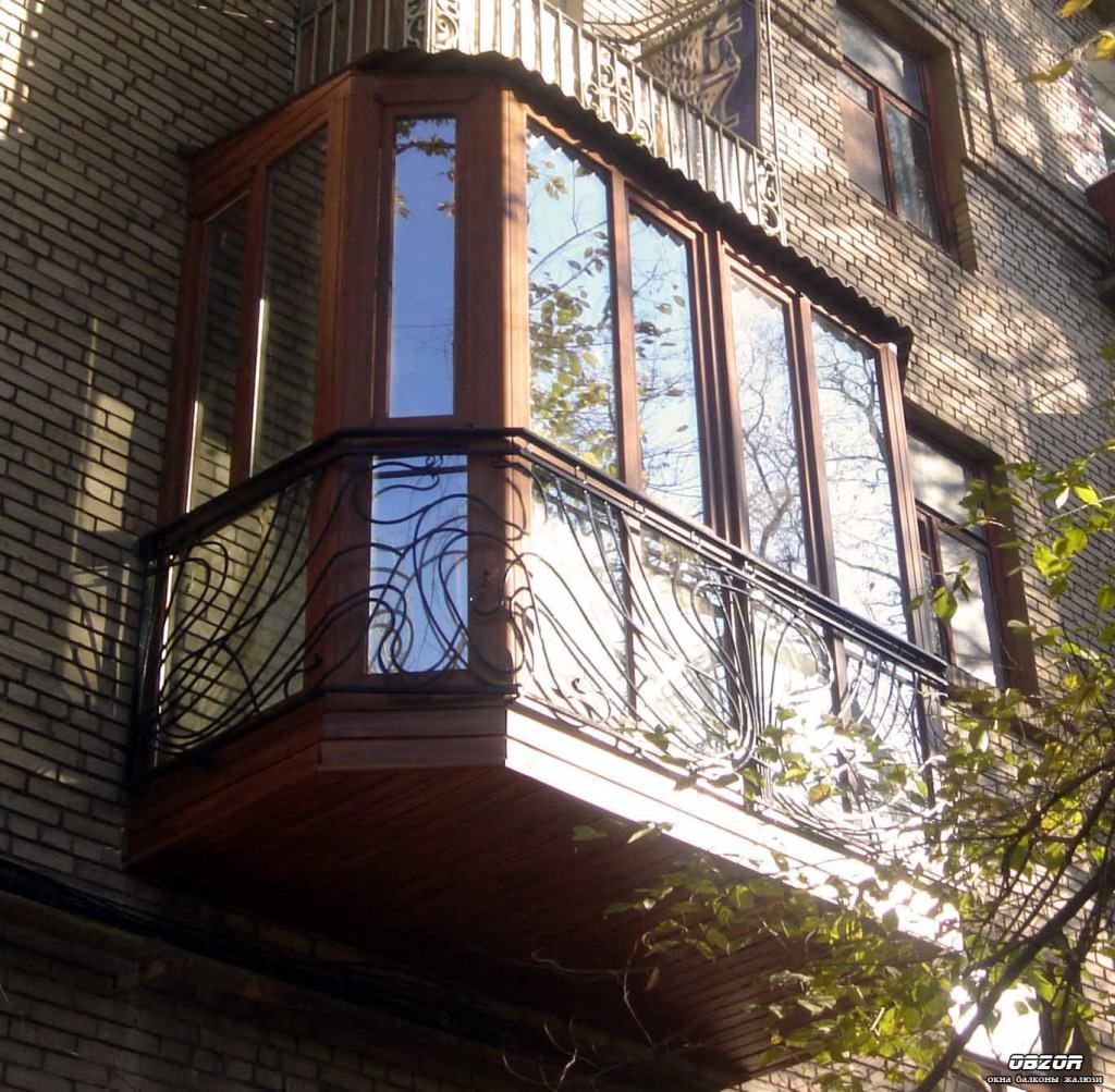 Как сделать кованый французский балкон, стоимость и фото.