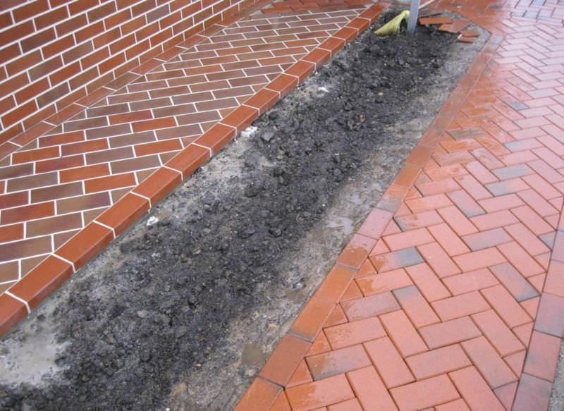 Рассматриваем преимущества отмостки из тротуарной плитки