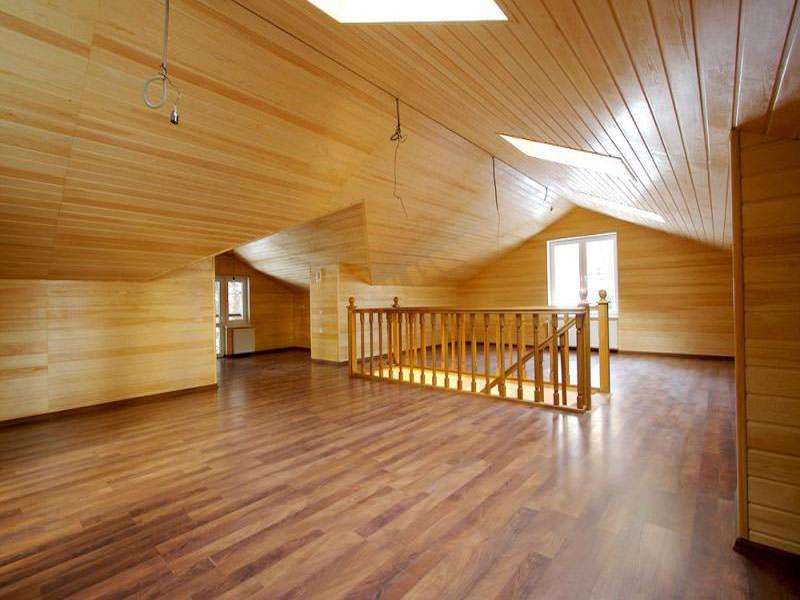 Обшивка экологичного дома блок хаусом под брус