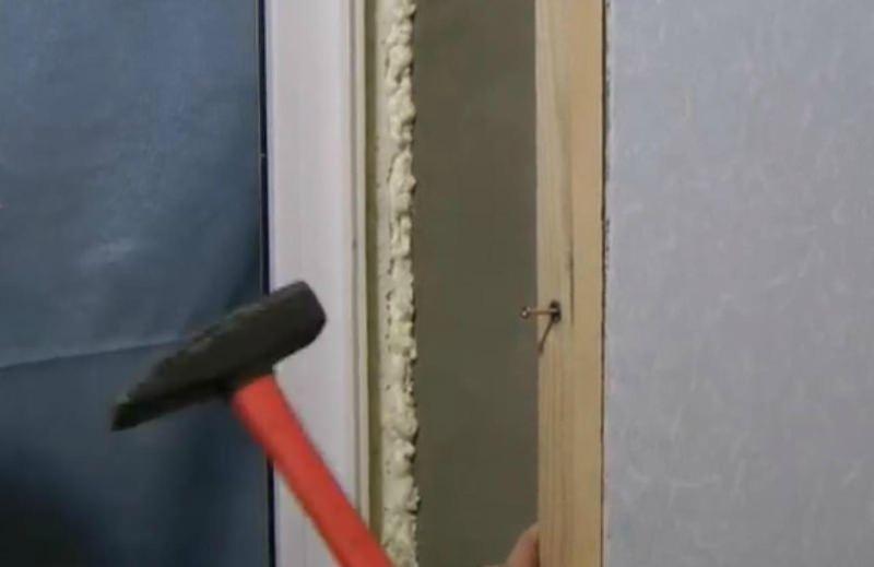 Монтаж обрешетки по стене